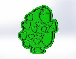 3D Love cookie cutters