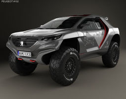 Peugeot 2008 DKR with HQ interior 2014 3D