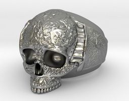 Skull Ring 3 jewelery 3D printable model