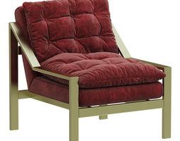 3d loft concept accent velvet armchair