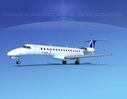 3D model Embraer ERJ-140 Finnair