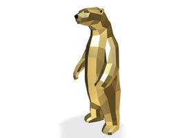 3D print model Low-Poly Bear