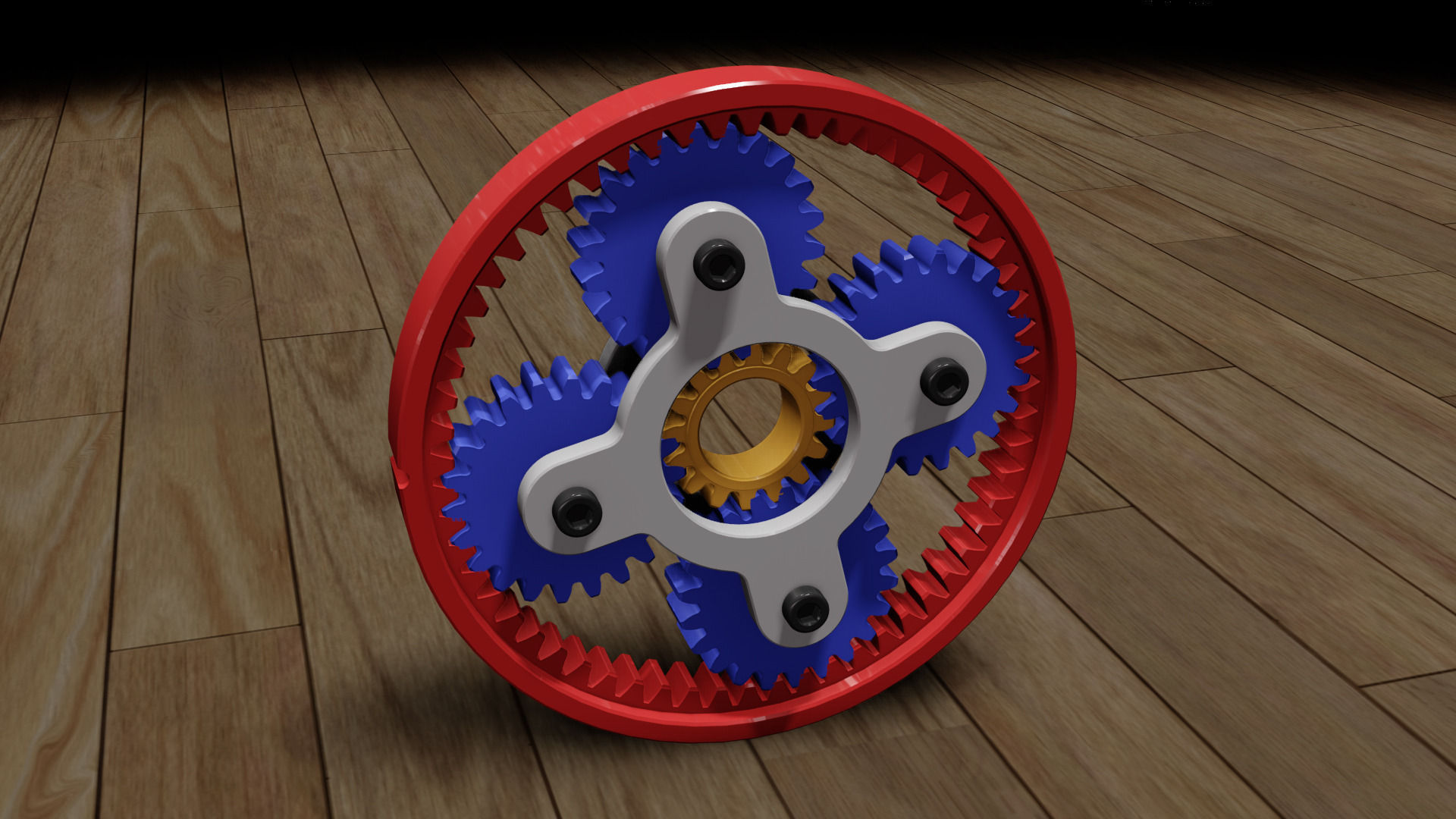Planetary Gear Animation SW Files Free 3D Model Obj