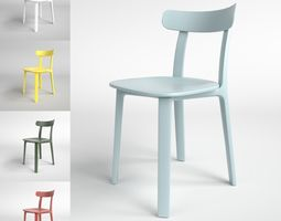 Vitra All Plastic Chair Blender Cycles 3D