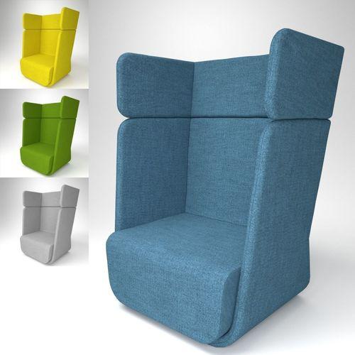 soft line basket armchair blender cycles 3d model obj mtl fbx blend pdf 1