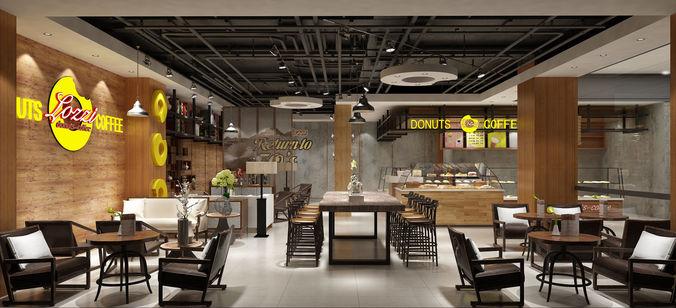 Modern restaurant interior | 3D model