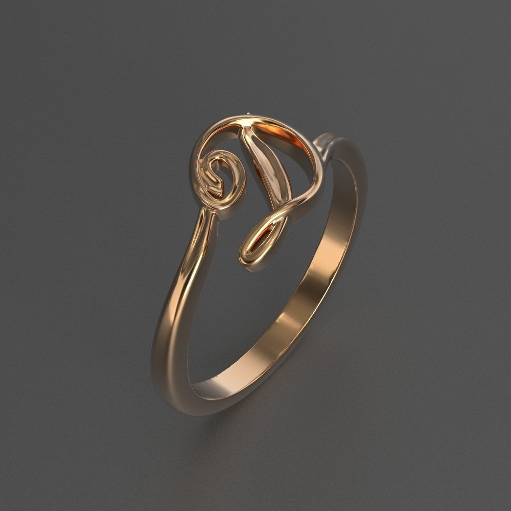 photo about 3d Printable D&d Miniatures identified as jewellery diamond eye-catching ring flowe letter 3d released style 3D Print Fashion