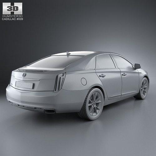 Cadillac XTS 2013 3D Model MAX OBJ 3DS FBX C4D LWO LW LWS