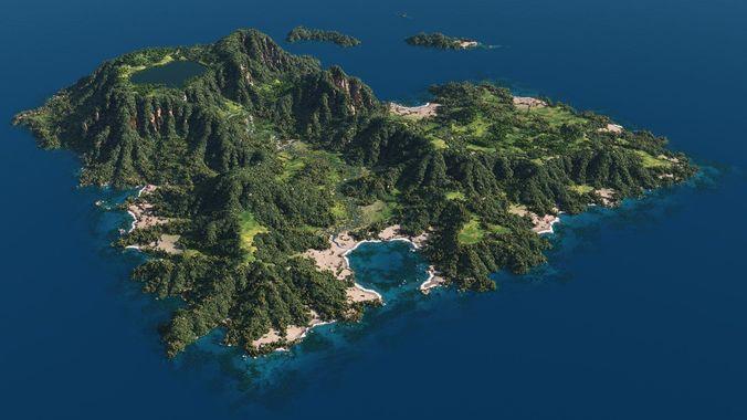 green island in vue 3d model vue 1