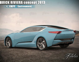 Buick Riviera concept and Environment 3D Model