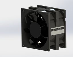 SAN ACE 80 FAN 3D model