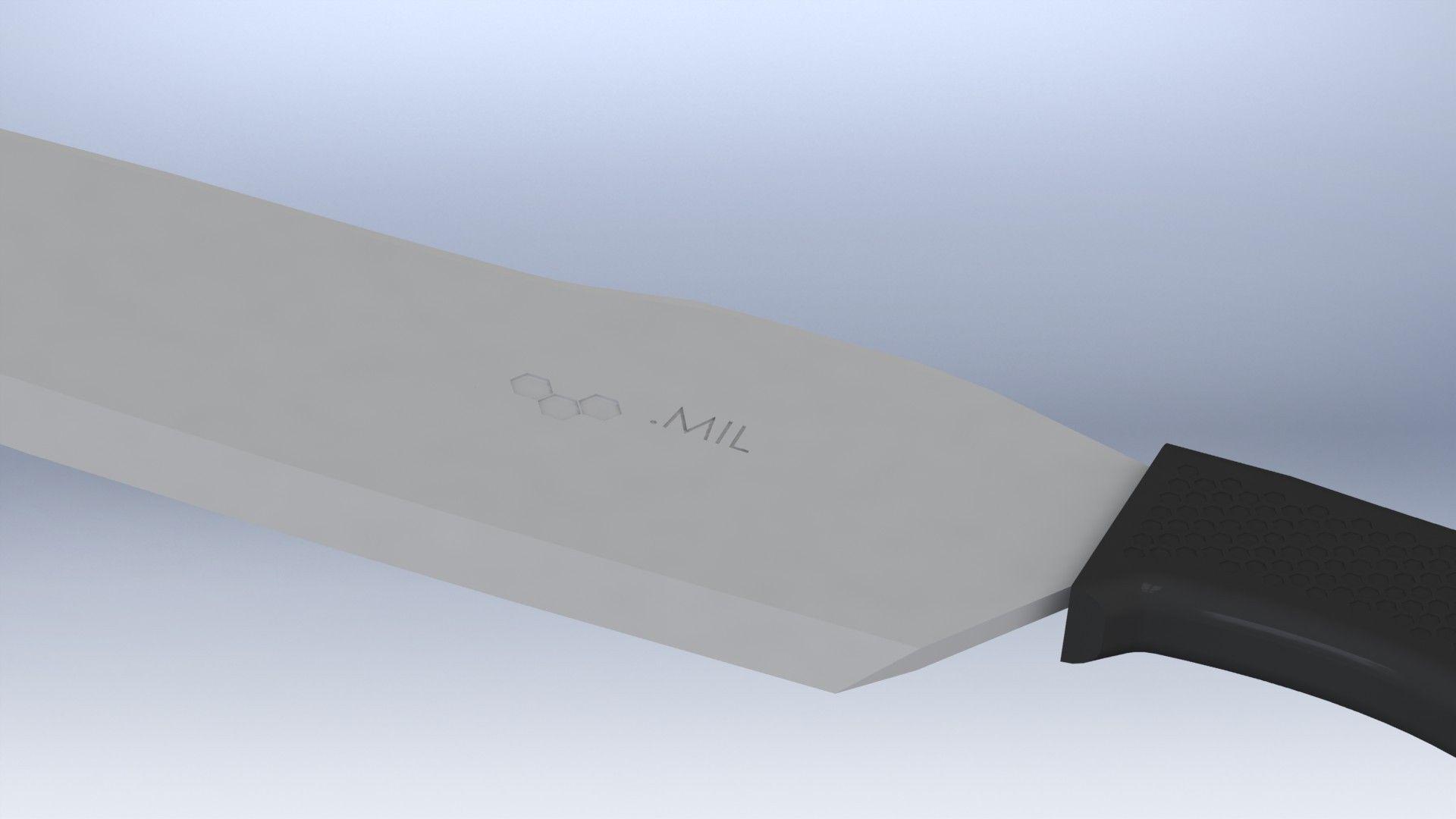 tactical kitchen chefs knife free 3d model stl cgtrader com
