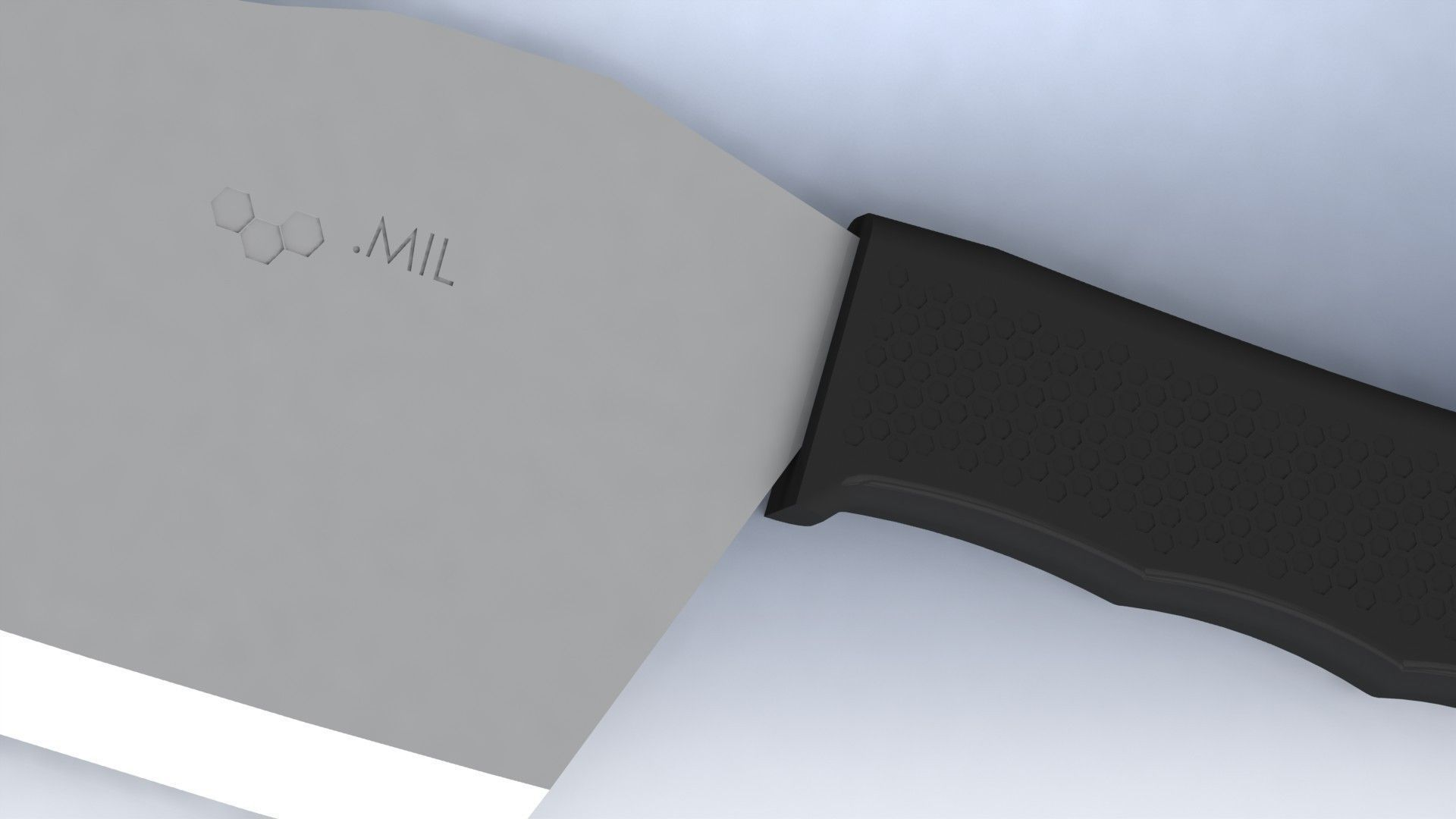 Tactical Kitchen Cleaver Knife 3D