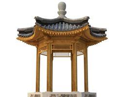 3D asset Ancient Chinese Architecture Six corner
