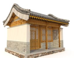 Ancient Chinese Architecture Distribution room 01 3D model