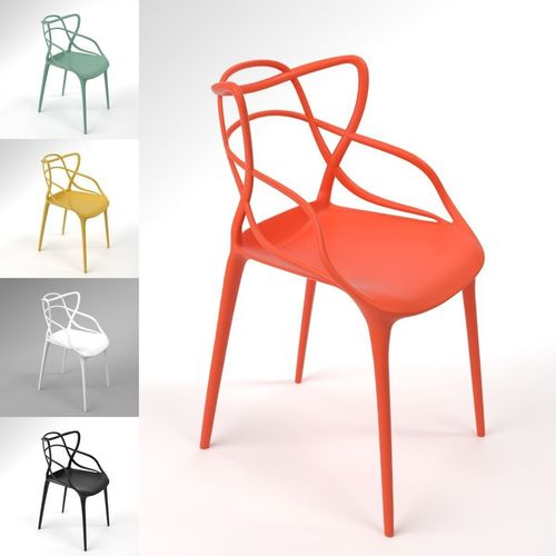 Kartell Masters Chair Blender Cycles 3D Model
