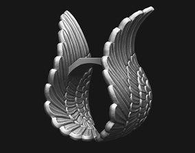 3D print model Ring - Wings