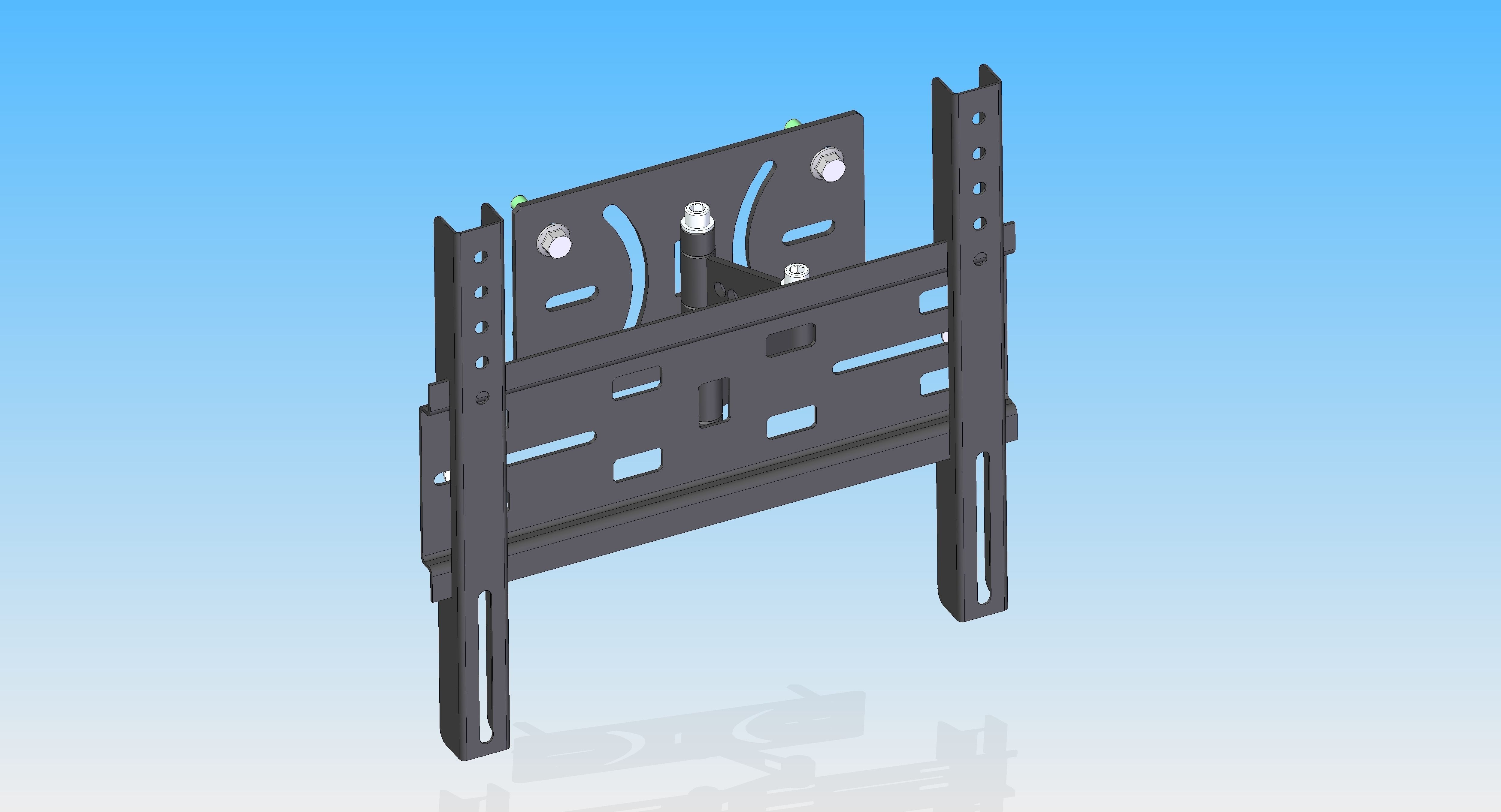 TV Holder Wall Mount 3D model   CGTrader