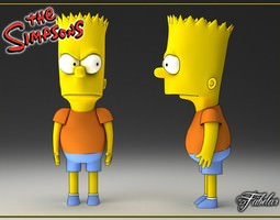 3D model Bart Simpson