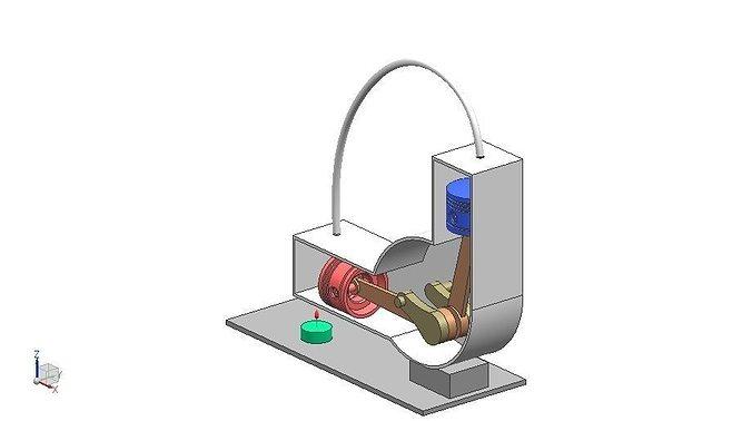 Alpha stirling engine free 3d model ige igs iges for Decor 9 stirling