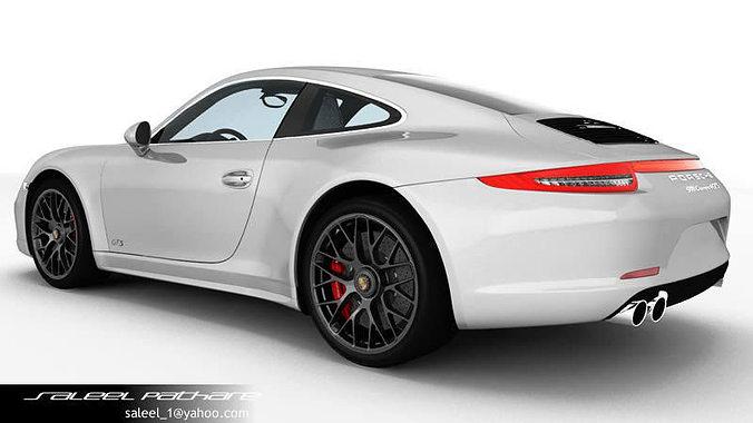 porsche 911 carrera gts 2015 3d model max obj - 911 Porsche 2015