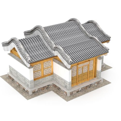 chinese architecture distribution room 04 3d model low-poly max obj mtl 3ds fbx 1