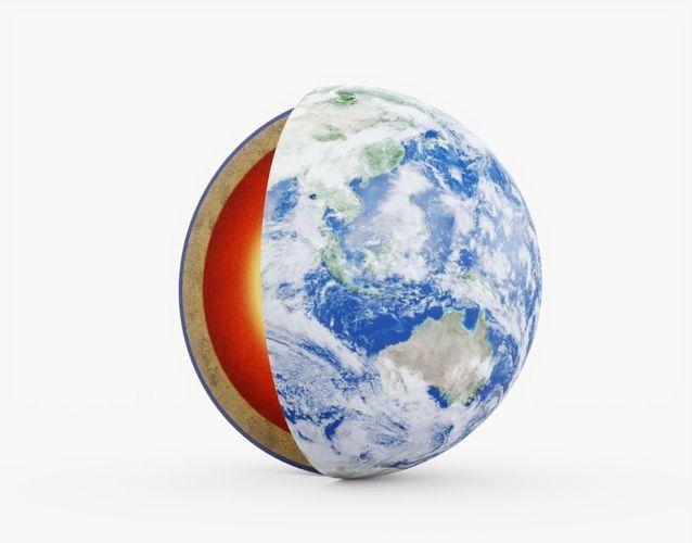 earth core 3d model obj mtl 3ds fbx stl 1