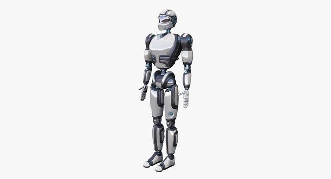 cyborg 3d model max obj mtl fbx 1