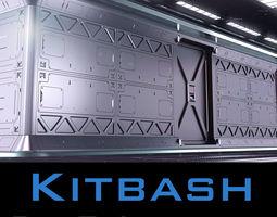 3D model Sci Fi Interior Kitbash