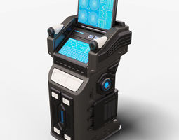 3D Sci Fi Terminal 01 Stylized