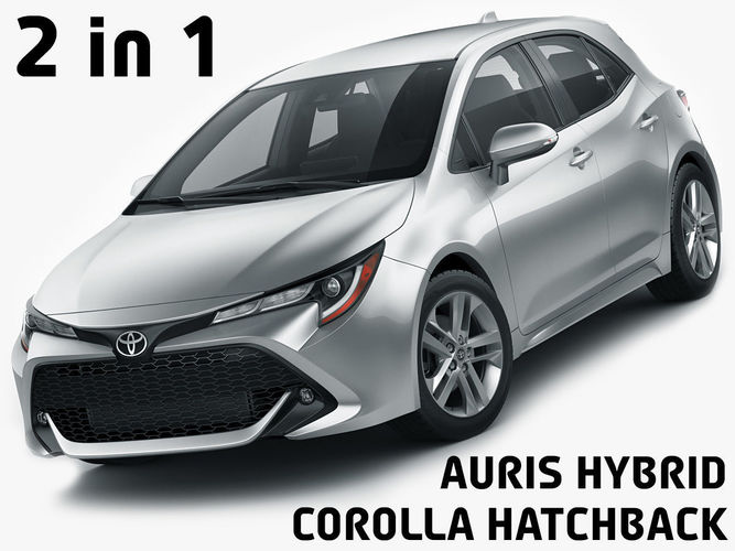 Toyota Corolla Hatchback And Auris 2019 3d Cgtrader