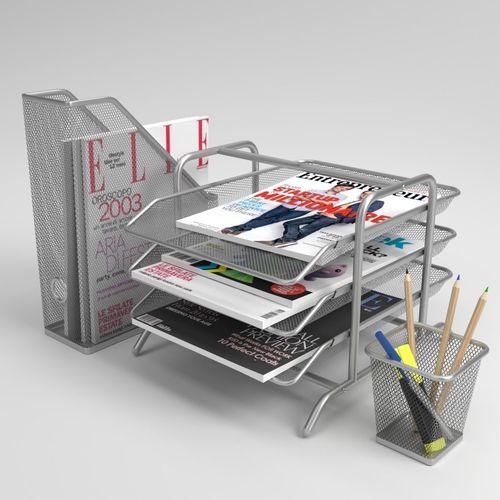 ikea dokument magazine file letter tray pen cup blender cycles 3d model obj mtl fbx blend 1