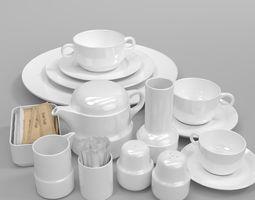 Tongana Acapulco cup plate teakettle tabelware set 3D