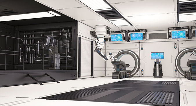 sci fi laboratory 02 3d model rigged max obj fbx mtl 1