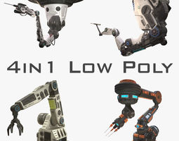 Robotic Arms Low Poly Collection 3D model