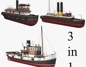 3D model Tugboat Collection