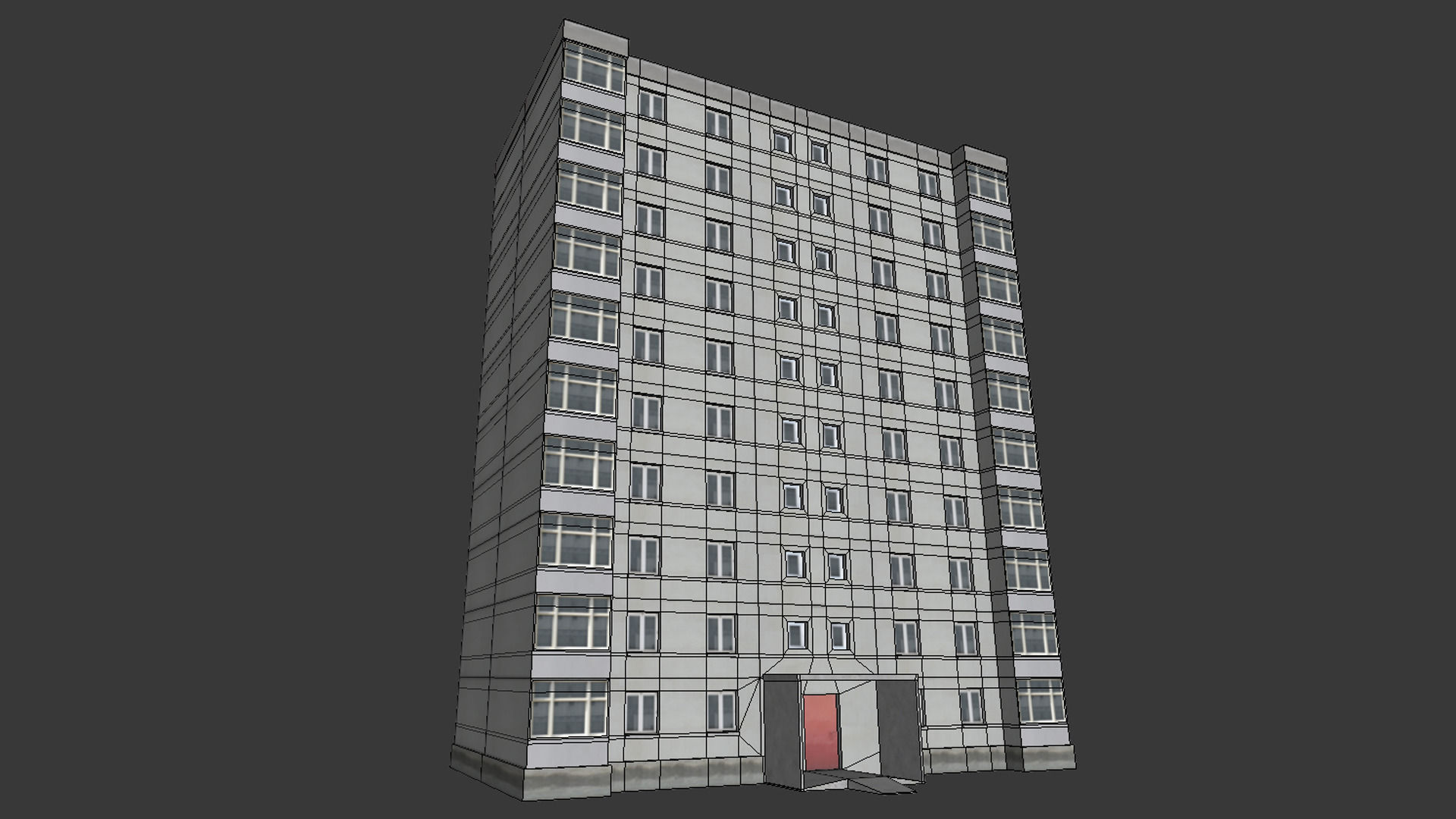 City Building 3d Model Game Ready Max Fbx