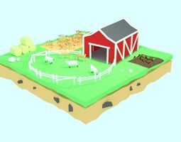 3D asset low poly farm by RICHARD HIND