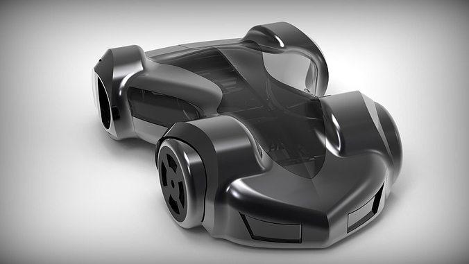 trot concept car 3d model stp 1