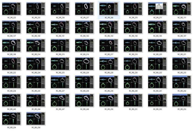 collection- bulk rings-0028-3dm without stones-49 files 3d model stl 3dm 1