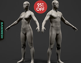 Average Body Basemesh Set 3D