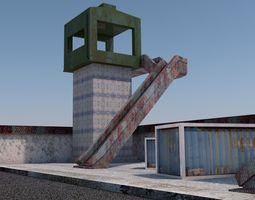 ULTRA LOWPOLY MILITARY OUTPOST 3D model