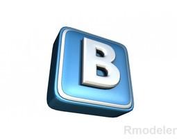 VKontakte letter 3d Logo