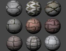 Floor Tiles Texture Pack 5 3D model