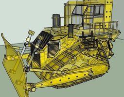 vehicle bulldozer obj file 3D model