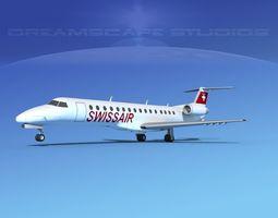 Embraer ERJ-140 Swissair 3D model
