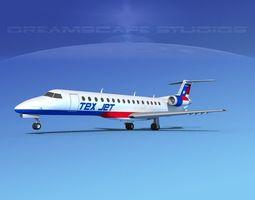 3D Embraer ERJ-140 Texair