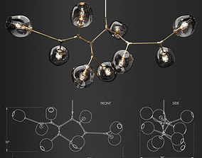 Branching bubble 9 lamps 1 by Lindsey Adelman 3D model 1