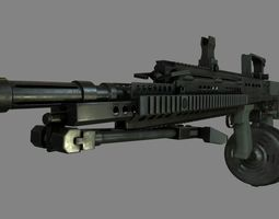 3D model L86 Light Machine Gun