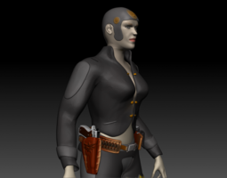 Angry Betty  Sci-Fi Lady 3D Model